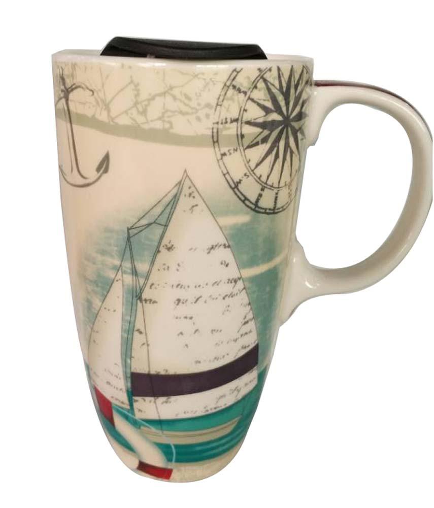 Sailboat Mug Big Coffee Mugs Hand Painted Funny Mug Coffee Tea Juice Milk Mugs