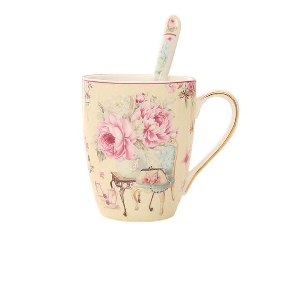 8a3a97cd5b0 Ceramic Travel Mug For Office Coffee Mug Ceramic Tea Cup With Spoon